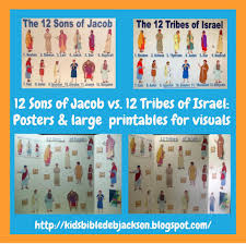 bible fun for kids the 12 sons of jacob vs the 12 tribes of