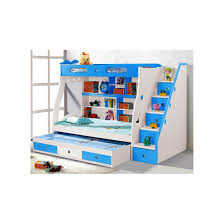 bedroom white kids bunk bed with creative storage and stairs