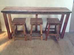 Reclaimed Barn Wood Breakfast Bar Set Bar Height - Kitchen breakfast bar tables