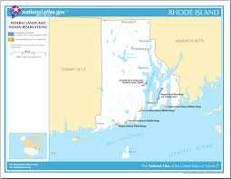 Map Of Ri Map Of Rhode Island Map Federal Lands And Indian Reservations