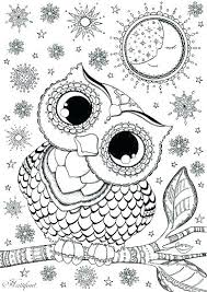 coloring page for adults owl cute owl coloring page pictures reishand info intended for pages