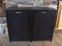 new black painted wood double trash bin cabinet garbage can tilt new black painted wood double trash bin cabinet garbage can tilt out doors reserved listing for