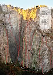 Yosemite Topo Map Ribbon Fall In Yosemite
