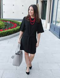 black necklace dress images Little black work dress lady in violet houston fashion blogger jpg
