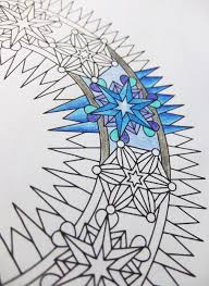 ice wreath mandala candyhippie coloring pages