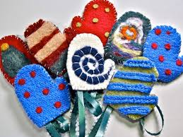 tutorial felted mitten ornaments handled scissors