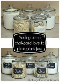 kitchen canisters glass adding some chalkboard to my glass canisters