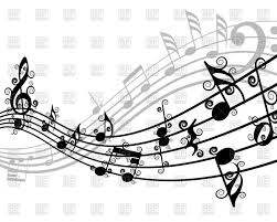 set of musical notes vector clipart image 89221 u2013 rfclipart