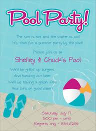 birthday pool party invitation wording alanarasbach com
