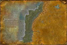 map quests darkshore map with locations npcs and quests of warcraft