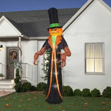 gemmy airblown inflatable 12 u0027 x 5 u0027 pumpkin reaper halloween