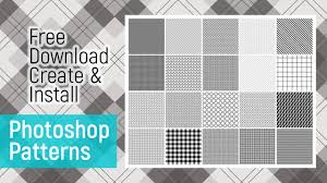 create pattern tile photoshop how to download install create pattern photoshop tutorial