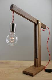 Modern Wood Desk Creative Wood Lamp Post Designs Interior Design For Home