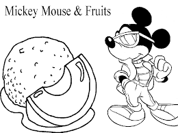 disney mickey mouse fruits coloring pages learn gekimoe u2022 10375