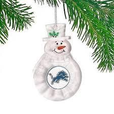 boelter brands detroit lions traditional snowman ornament