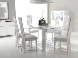 Dining Room White Chairs Dining Rooms - White leather dining room set