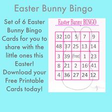 easter bunny bingo cards free printables pinkwhen