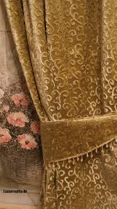 Gold Velvet Curtains Gold Lilac Brown Lined Velvet Curtains Beaded Tie