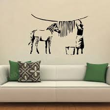 aliexpress com buy free shipping banksy zebra stripes wash vinyl aliexpress com buy free shipping banksy zebra stripes wash vinyl wall sticker laundry room wall art sticker mural transfer decal from reliable sticker