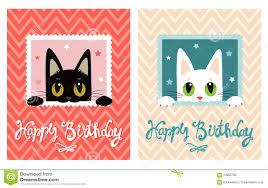 happy birthday card happy birthday card with cute cat greeting