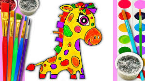 cute baby animals coloring pages cute baby animals coloring page giraffe for kids to learn to draw