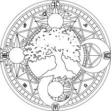 and moon coloring page