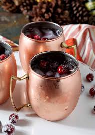 cranberry mule a fall and thanksgiving twist on the classic