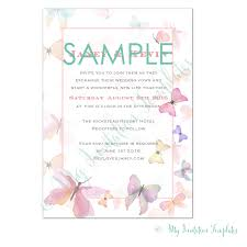 butterfly wedding invitation template sample
