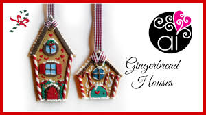 diy gingerbread houses polymer clay christmas decorations