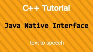 jni tutorial linux java and c tutorial java native interface text to speech