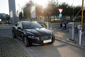 all black jaguar new jaguar xf 2 2 diesel goes from birmingham to munich on one
