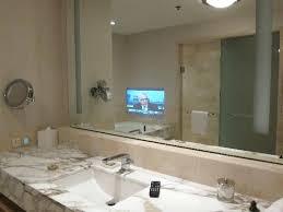 built in bathroom mirror bathroom mirror tv screen juracka info