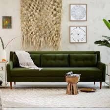 Green Sofa Bed Crosby Mid Century Sofa 92 West Elm