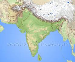 Map Projection Definition South Asia Physical Map