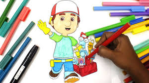 coloring handy manny tools fun coloring activity kids