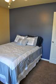 what color curtains with blue walls brown furniture bedroom sy