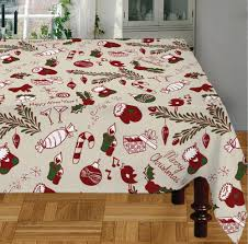 Cotton Christmas Products X Mas Table Cloth Manufacturer From Karur - Table cloth design