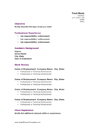 Good Resume Outline This Resume Template Balances The Need To Showcase Both Academic
