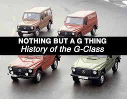 history of the mercedes mercedes g class history