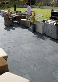 Tiles For Patio Outside Natural Slate Paving Midnight Blue Mb U2026 Pinteres U2026