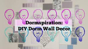 Dorm Room Wall Decor by Diy Dorm Room Wall Decor Idea Youtube