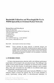 Business Trip Email by Bandwidth Utilisation And Wavelength Re Use In Wdm Optical Burst