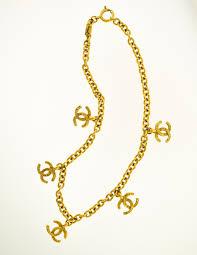 charm necklace vintage images Chanel vintage gold cc logo charm necklace from amarcord vintage jpg
