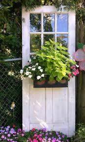 diy window flower boxes 33 artistic and practical repurposed old door ideas garden doors