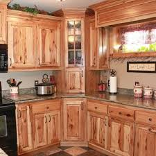 Stained Hickory Cabinets Kitchen U0026 Bar Transitional Kitchen With Hickory Kitchen Cabinets