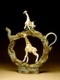 asian giraffe ring holder images African giraffes upright ring teapot ray bub jpg