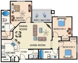 apartment 3 bedroom three bedroom apartment layout homes floor plans