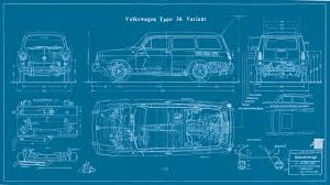 volkswagen old van drawing type 3 squareback blueprint vw type 3 pinterest volkswagen