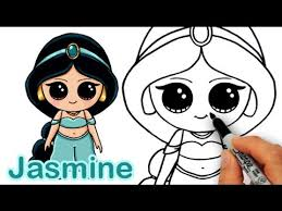 draw disney princess jasmine aladdin cute