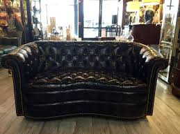 Chesterfield Tufted Leather Sofa Ralph Tufted Chesterfield Sofa Brown Top Grain
